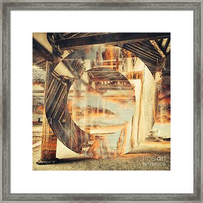 Wood Craftsmanship With Sunset Clouds Framed Print by Beverly Claire Kaiya