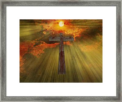 Wood Cross  Framed Print by Bruce Rolff