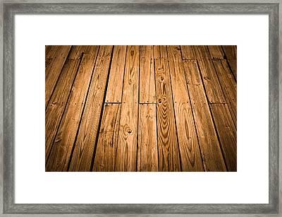 Wood Deck Background Framed Print