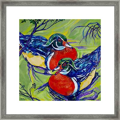 Wood Duck 2 Framed Print by Derrick Higgins