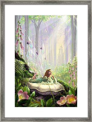 Wood Fairy Framed Print by Garry Walton