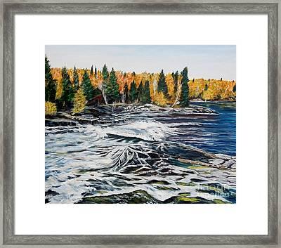 Wood Falls 2 Framed Print by Marilyn  McNish