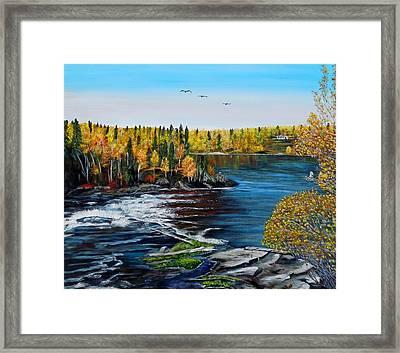 Wood Falls  Framed Print by Marilyn  McNish