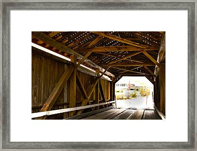 Wood Fame Bridge Framed Print