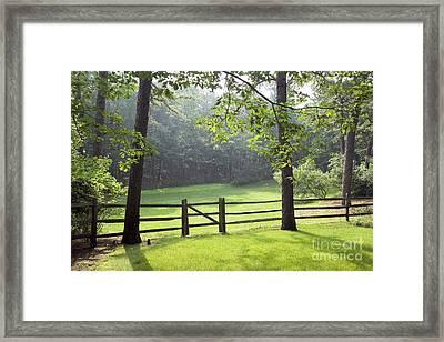 Wood Fence Framed Print