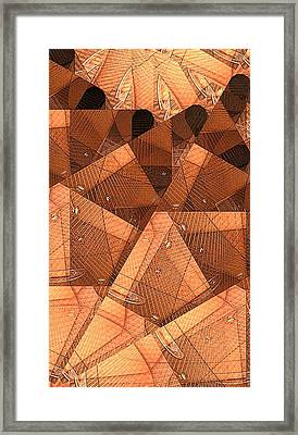 Wood Forms Framed Print by Ron Bissett
