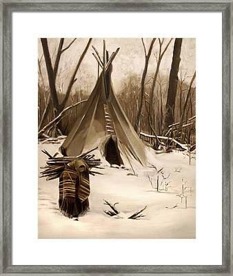 Wood Gatherer Framed Print