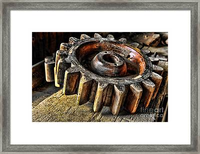 Wood Gears Framed Print