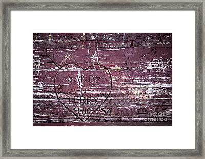 Wood Graffiti Framed Print