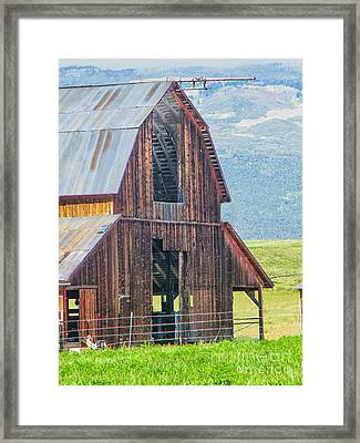 Wood Iron And Hayloft Framed Print