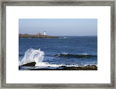 Wood Island Light Framed Print