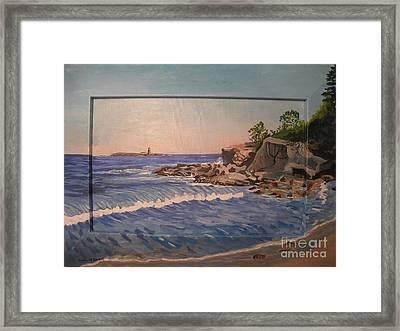 Wood Island Lighthouse Framed Print