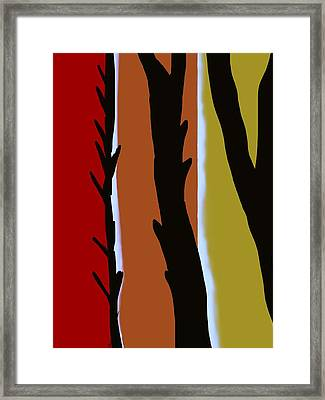 Framed Print featuring the digital art Wood L by Christine Fournier