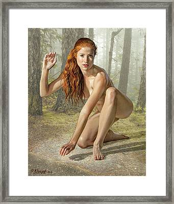 Wood Nymph Framed Print by Paul Krapf