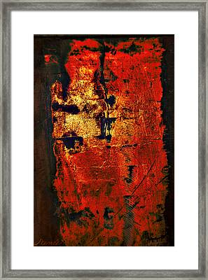 Framed Print featuring the painting Wood On Fire 3 Painting Original Sold by Renee Anderson