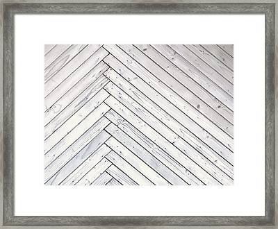 Wood Paneling With Thin Plates Illustration Framed Print by Jozef Jankola