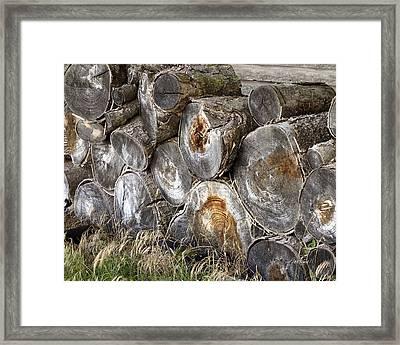 Wood Pile -  Fine Art  Photograph Framed Print