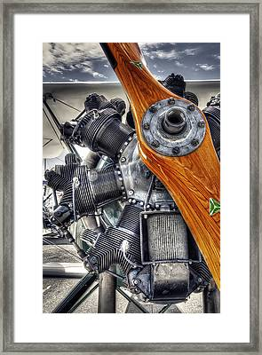 Wood Prop And Engine Framed Print