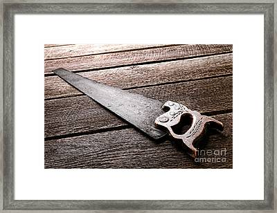 Wood Saw Framed Print by Olivier Le Queinec