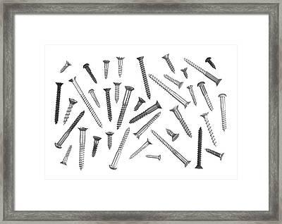 Wood Screws Framed Print by Jim Hughes