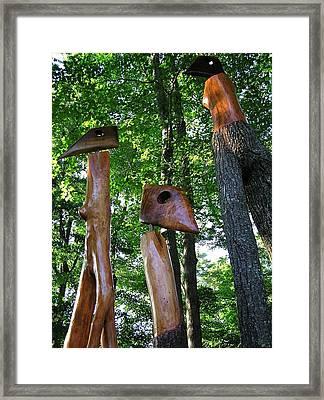 Wood Sculptures Framed Print by John Wartman