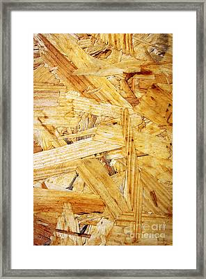 Wood Splinters Background Framed Print by Carlos Caetano