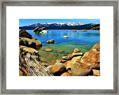Wood Stone Water Framed Print