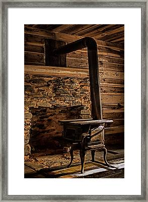 Wood Stove Framed Print by Dave Bosse