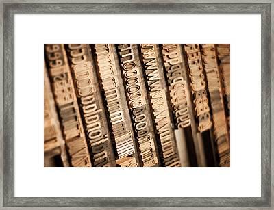 Wood Type Framed Print