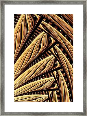 Wood Weaving Framed Print by Anastasiya Malakhova