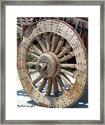 Wood Wheel Framed Print