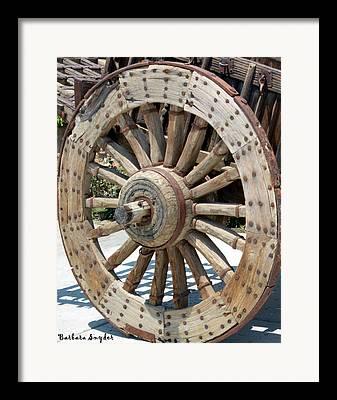 Wooden Wagons Digital Art Framed Prints