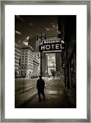 Woodbine Man Framed Print by Bryan Scott