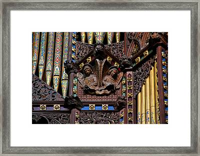 Wooden Angels Ely Cathedral Framed Print