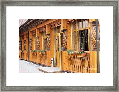 Wooden Architecture Framed Print