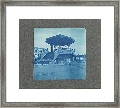 Wooden Bandstand With Stairs And Wind Vane Framed Print