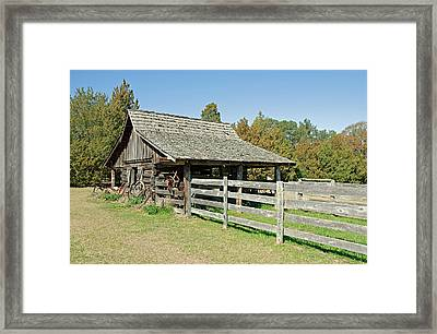 Framed Print featuring the photograph Wooden Barn by Charles Beeler