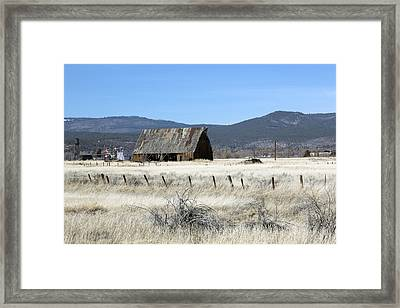 Wooden Barn Near Susanville Framed Print
