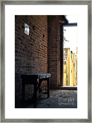 Wooden Bench Framed Print