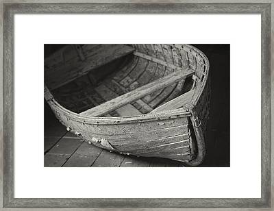 Wooden Boat Fading Away Framed Print by Mary Lee Dereske