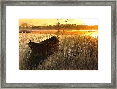 Wooden Boat Finland Framed Print by Randy Sprout