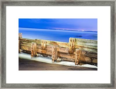 Wooden Break Wall Framed Print by Joe Belanger
