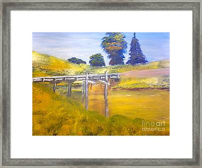 Wooden Bridge At Graften Framed Print