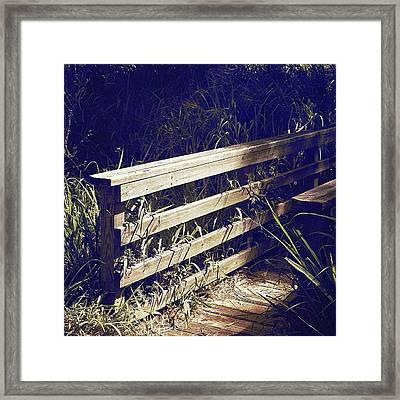 Wooden Bridge Framed Print by Beth Williams