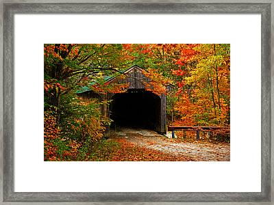 Wooden Bridge Framed Print