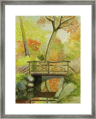 Wooden Bridge Central Park  Framed Print