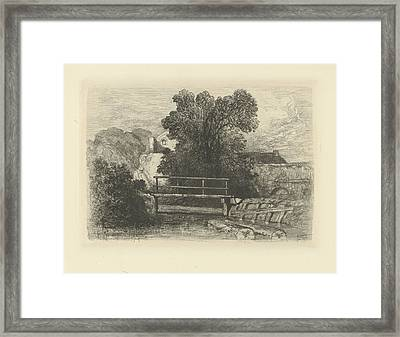 Wooden Bridge, Charles Rochussen Framed Print by Artokoloro
