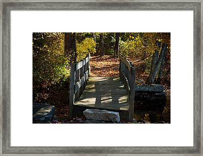 Wooden Bridge - Ledyard Sawmill Framed Print