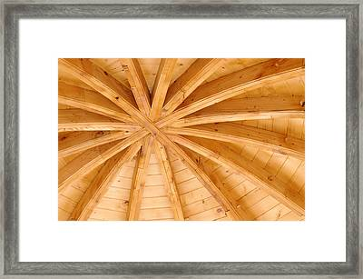 Wooden Ceiling  Framed Print by Ioan Panaite