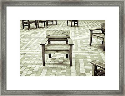 Wooden Chairs Framed Print by Tom Gowanlock